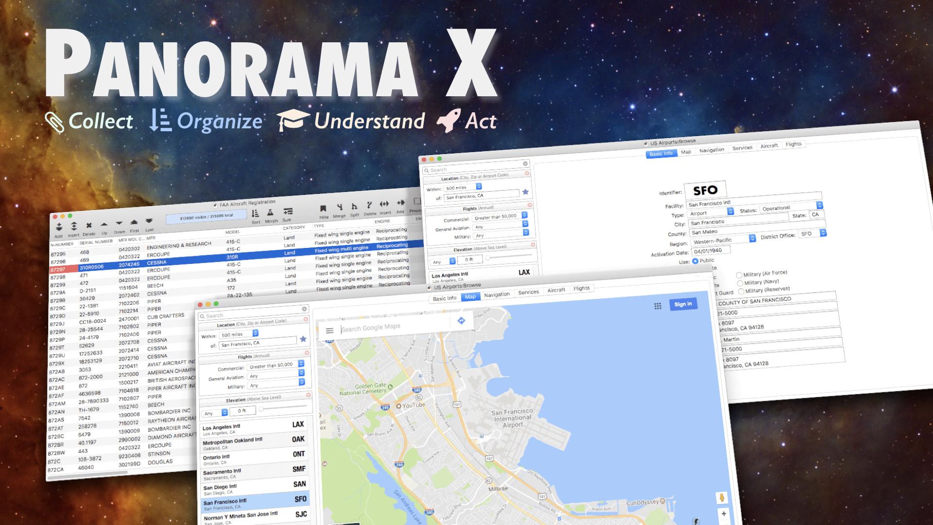 Panorama X Database Software for Macintosh